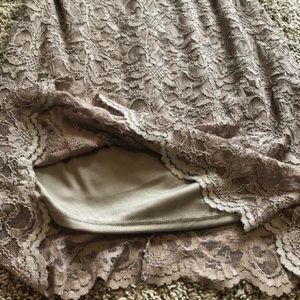 Tiana B Sleeveless Lace Sheath Dress - Taupe - 14